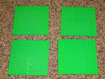 "LEGO Lot of 4 Base plates Bright Green 16x16 dot 5/""x5/"" square base plate"