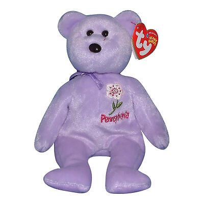 Ty Beanie Baby Pennsylvania Mountain Laurel - MWMT (Bear Show Exclusive 2005)