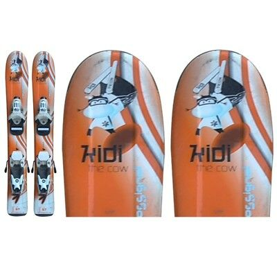Ski occasion junior Rossignol Kidi the cow orange + fixations