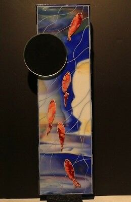 Stained Glass Mosaic Koi Fish Mirror