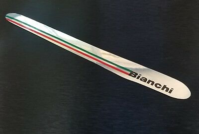 Bianchi Italian Italy bicycle chainstay sticker decal chrome vintage style FRAME