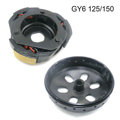 Racing Rear Clutch 2000 Rpm Spring + Drum Bell For Gy6 125/150Cc Chinese Scooter