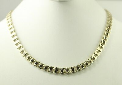 "20"" Fancy Flat Square Link Necklace Made in Italy 14K Yellow Gold 63.7 WHOLESALE"