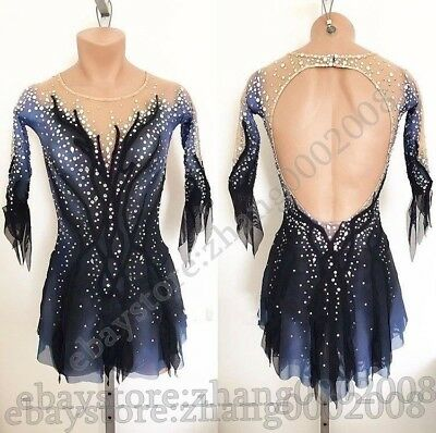 Stylish Ice skating dress.Competition Figure Skating Dress.Twirling Baton Custom