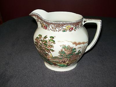 "BARKER BROS ENGLAND ROYAL TUDOR WARE ""OLDE ENGLAND"" BROWN MULTI 16 oz PITCHER"