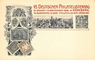 1906 Philatelic Germany Postage Stamp Nuremberg Postcard