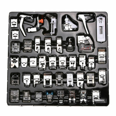 Domestic Sewing Machine Presser Foot Feet Snap Set Kit for Brother Janome Singer