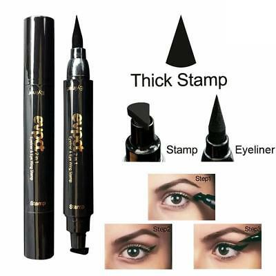 2 in1 Black Eyeliner Vamp Pen Seal Eye Liner Stamp Winged Head Makeup Waterproof