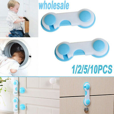 1/2/5/10X Kids Child Todler Baby Safety Cabinet Door Fridge Drawer Cupboard Lock