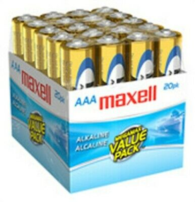 Maxell 723849 AAA Cell Alkaline Batteries 20 Count