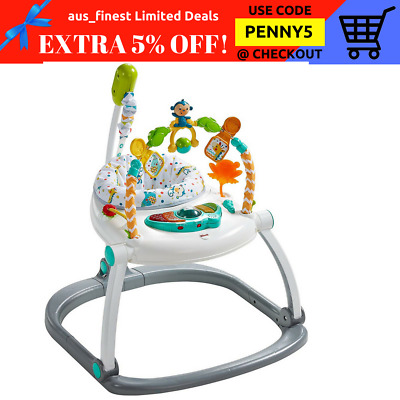 Fisher Price Light Sound Carnival SpaceSaver Jumperoo Baby Bounce Jump Walk Spin