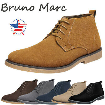 Bruno Marc Men's Chukka Camel Suede Leather Chukka Desert Oxford Ankle Boots