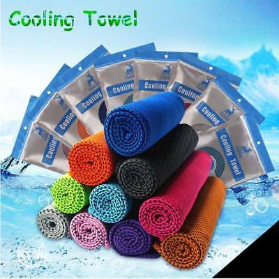 Instant Cooling Towel ICE Cold Cycling Jogging Gym Sports Outdoor Chilly NEW