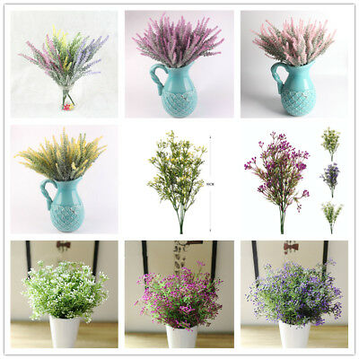 Fake Flowers Decor 1 Bouquet 5 Branch Silk Flowers Artificial Flower Plastic