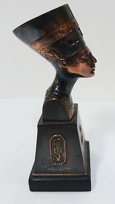 UPX53 VINTAGE ANCIENT EGYPT REPRODUCTION METAL NEFERTITI spelter and bronze coat