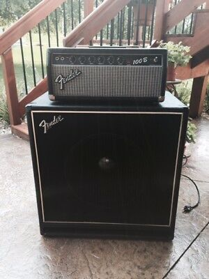 Vintage Fender Bass Cabinet and Head