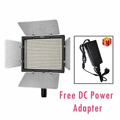 Yongnuo YN-600 5500K Pro LED Video Light Camcorder + Adapter for Canon Nikon US