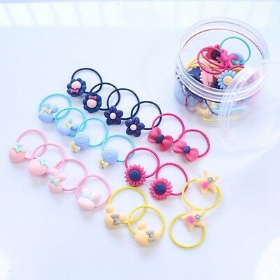10pcs/Pack Cute Elastic Hair Bands Kids Rubber Band Girls Rope Ring Hair Access