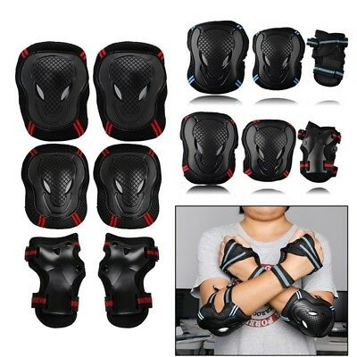 6pcs Skating Protective Gear Sets Elbow Knee Pads Bike Skateboard Adult Kid NE8X