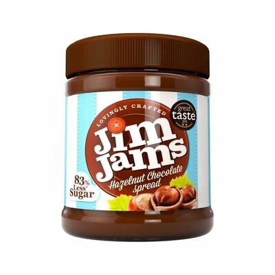 Jimjams 83% Less Sugar Hazelnut Chocolate Spread 350g (Pack of 4)
