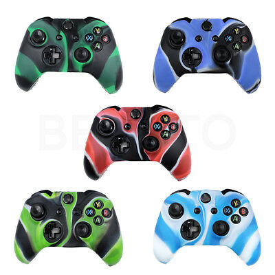Camouflage Soft Rubber Silicone Skin Case Cover for XBOX ONE X1 Controller