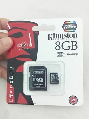 Kingston 8GB Memory Card Class 10 Micro SD C10 SDHC TF +Adapter for phone camera