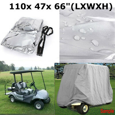 110'' 4 Passenger Golf Cart Cover Fits For Yamaha EZ-GO Club Car Storage Silver