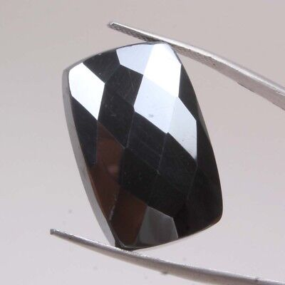 50.30 Cts Natural Hematite Checker Cut 27x18 MM Octagon Flatback Loose Gemstones