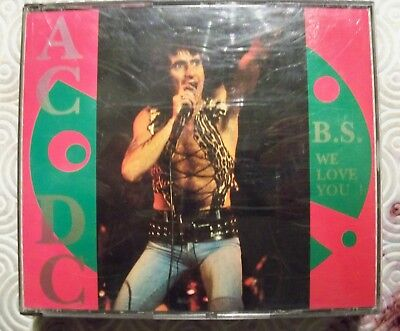 """Ac/Dc """"B.s. We Love You !"""" Double Fat Case Cd Live 1976/1978/1980 Oh Boy 2-9094"""