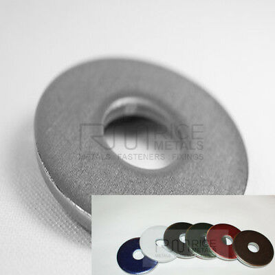 STAINLESS STEEL HEAVY DUTY WASHERS COLOUR & GRADE OPTIONS M8 M10 M12 x 5mm Thick