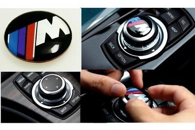 ///M Power Sports 29mm BMW IDrive Button Badge Multimedia Sticker