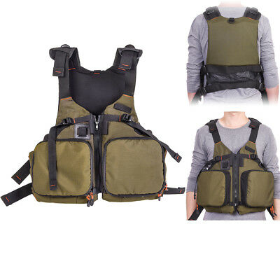 Multi-pocket Fly Fishing Vest Chest Mesh Bag Adjustable Size Kayaking Jacket