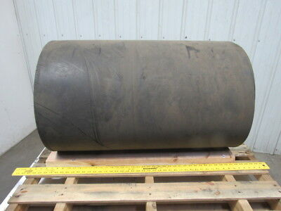 "35-3/4"" Rubber Smooth Top 2 Ply 3/8"" Thick Conveyor Belt 80'"