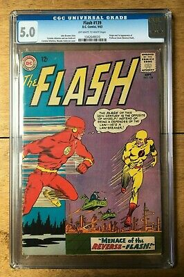 Flash #139 CGC 5.0 1st appearance of Professor Zoom (Reverse Flash) Off W/ White