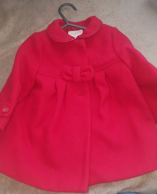 Red Mayoral Girls Coat 6-9m