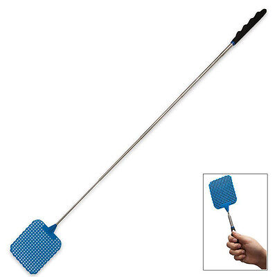 Hot  73cm Telescopic Extendable Fly Swatter Prevent Pest Mosquito Tool PlasticFG