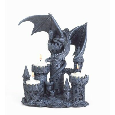 Dragon Castle 3 Tealight Candle Holder 9' High