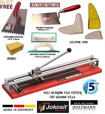 Tile Cutter 600mm Ball Bearing Tile Cutting Machine PRO Tiling Tool KIT GERMAN