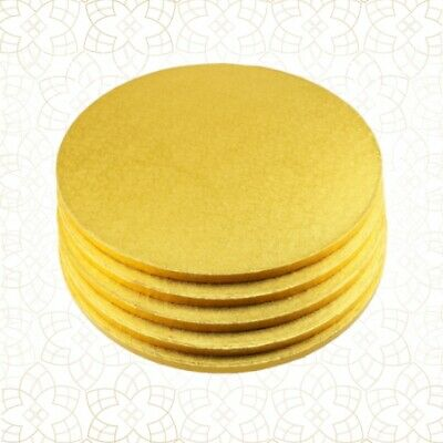 5 x Cake Drum 40 cm rund GOLD (13 mm) - Cakeboard CULPITT