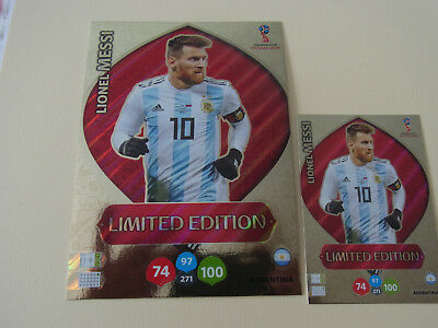 Panini Adrenalyn XL FIFA World cup Russia (2018); LE  Messi Argentinien XXL