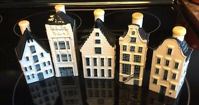 Blue Delfts of Holland for KLM by BOLS Royal Distilleries (5) Dutch Houses
