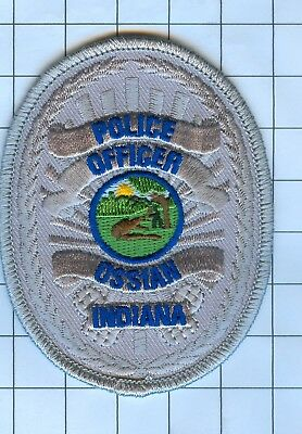 Police Patch Embroidered Mini-Patch  - Indiana - Police Officer Ossian
