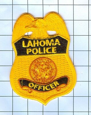 Police Patch Embroidered Mini-Patch  - Louisiana - Lahoma Police