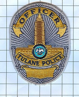 Police Patch Embroidered Mini-Patch  - Louisiana - Officer Tulane