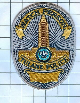Police Patch Embroidered Mini-Patch  - Louisiana - Watch PersonTulane