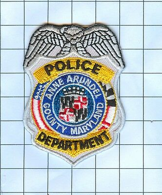 Police Patch Embroidered Mini-Patch  - Maryland - Anne Arundel County