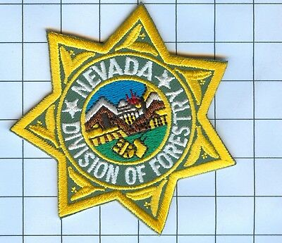 Police Patch Embroidered Mini-Patch  - Nevada - Nevada Division of Forestry