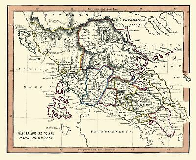 International Map - Northern Ancient Greece - Fenner 1830 - 28.18 x 23
