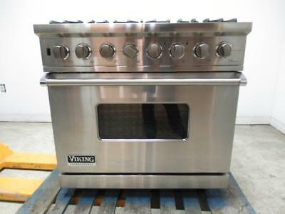 Viking Professional Series 36 Convection Oven Pro Style Gas Range Vgsc5366bss