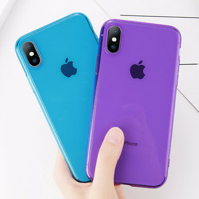Ultra-Thin Glossy Rubber Case TPU Silicone Cover for Apple iPhone X 8 6s 7 Plus